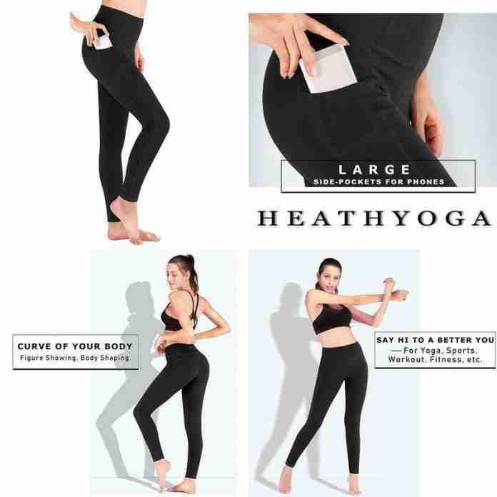 Heathyoga Yoga Pants with Pockets - Plenty of size and color options