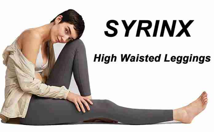 SYRINX High Waisted Leggings for Women Soft Athletic Tummy